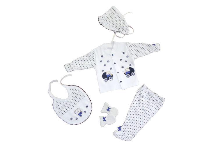 Sema Bebe 5'li Premature Puanlı Set - Mavi resmi