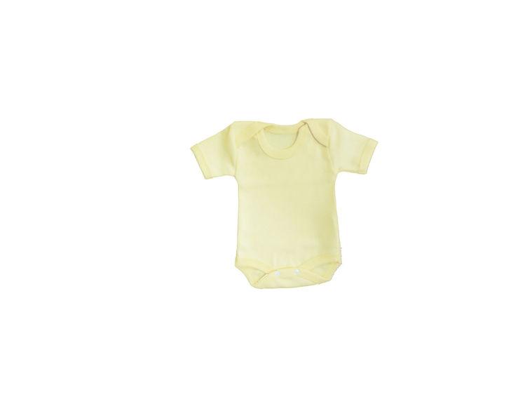 Sema Bebe Yarım Kol Badi (Body) - Sarı resmi