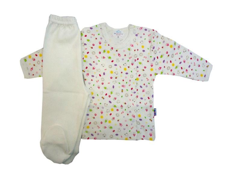Sema Bebe Bebek Pijama Takımı - Krem resmi