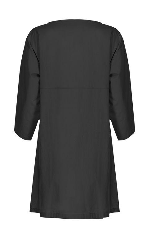Kolları Volanlı Elbise - Gecelik -Siyah resmi