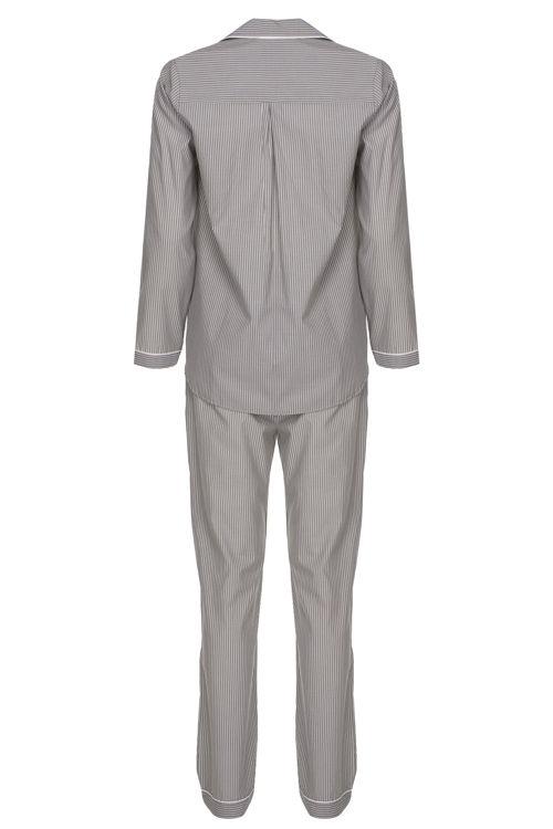 Koton Erkek Pijama Takım - Gri Çizgili resmi