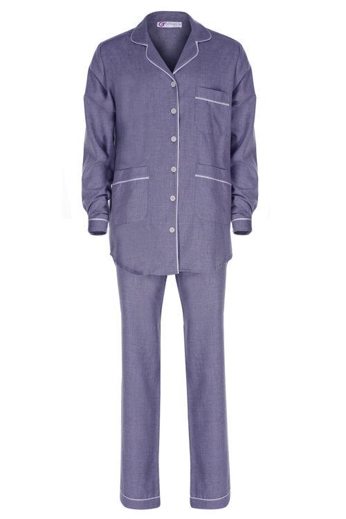 Koton Erkek Pijama Takım - Mavi resmi