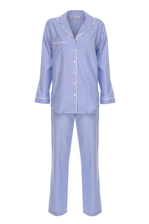Koton Erkek Pijama Takım - Mavi Çizgili resmi