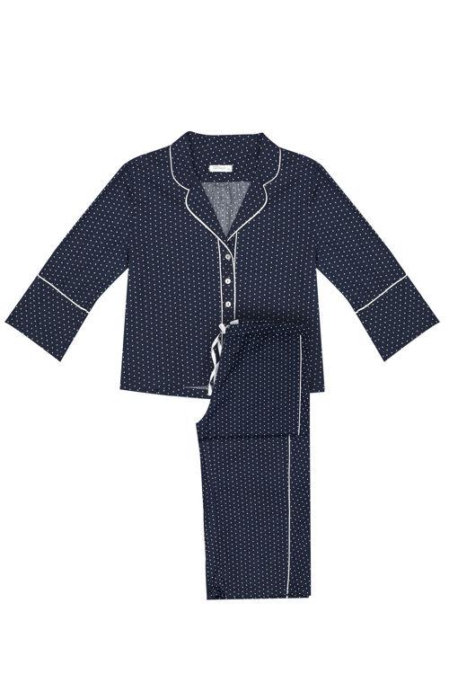 Koton Pijama Takım - Mavi Puanlı resmi