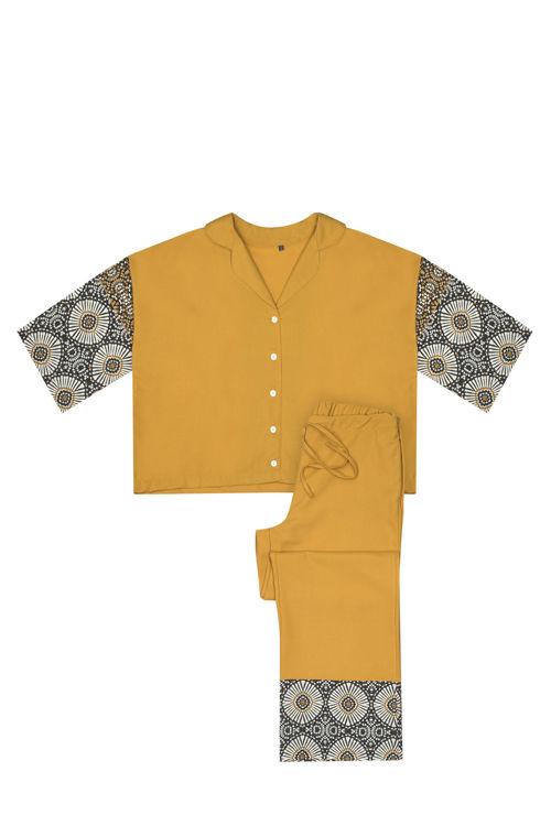 Koton Pijama Takım - Sarı Desenli resmi