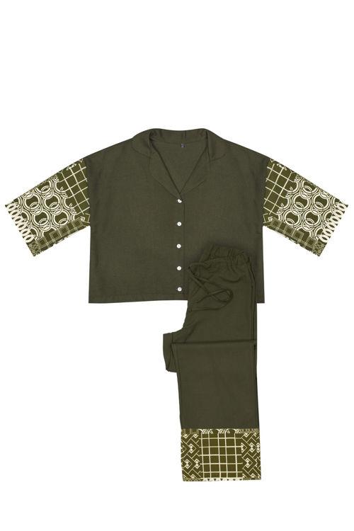 Koton Pijama Takım - Yeşil Desenli resmi