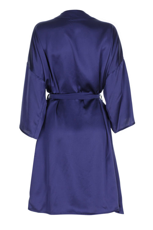 LEILA - İpek Kimono - Lacivert resmi