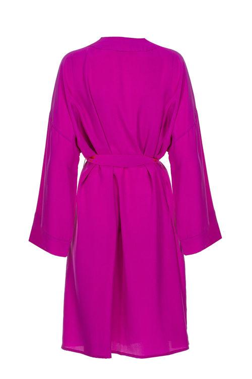 LILLY - İpek Kimono - Çingene Pembesi resmi