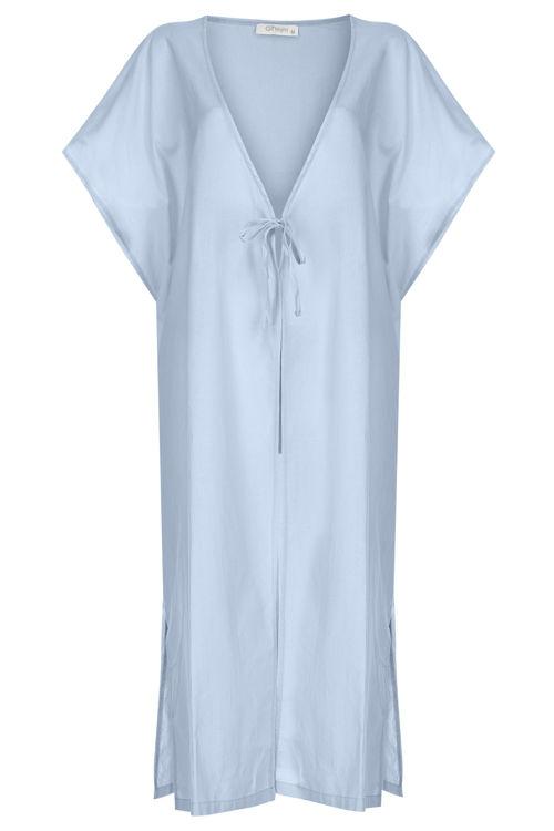 Önden Bağlamalı Kimono - Mavi resmi