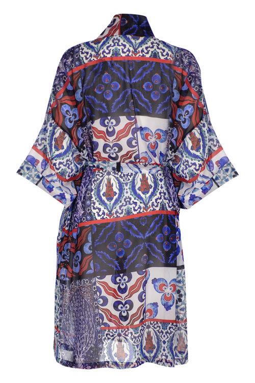 Uzun Kimono - Çini Desenli resmi