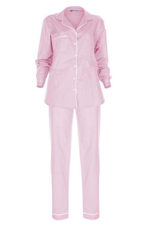 Vual Biyeli Pijama Alt - Pembe resmi