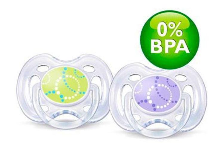 Avent 0% BPA Free Flow Yalancı Emzik 0-6 Ay İkili resmi