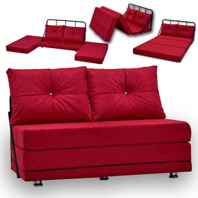 Meta Seryat İkili Koltuk - Kırmızı (Yatak Olma Özelliğine Sahip Bir Koltuk) resmi