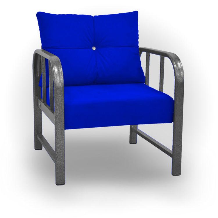 Alart Tekli Koltuk & Tekli Kanepe Bahçe ve Balkon Koltuğu - Mavi resmi